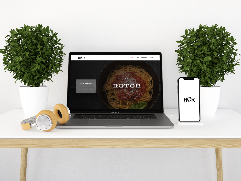 De rotor website mockup