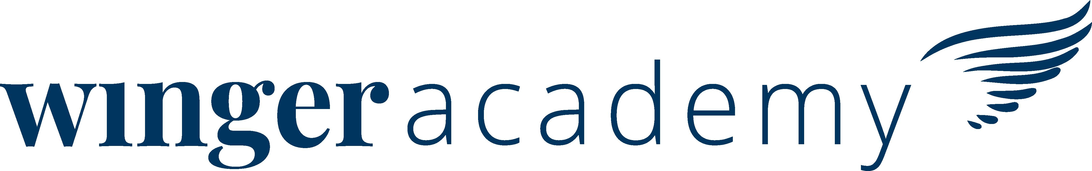 Logo Winger_Academy_Horizontaal_Pantone
